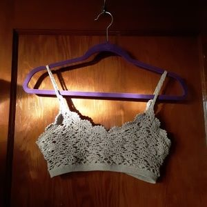 Forever 21 Intimates & Sleepwear - Adorable Beige/Tan Crochet Bralette